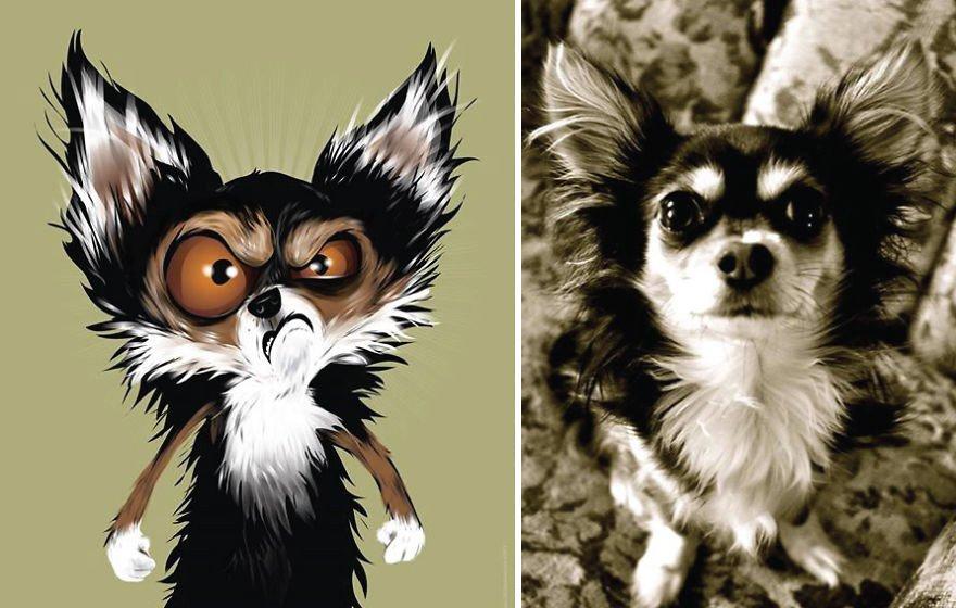 Usando a personalidade de animais de estimacao para criar caricaturas (5)