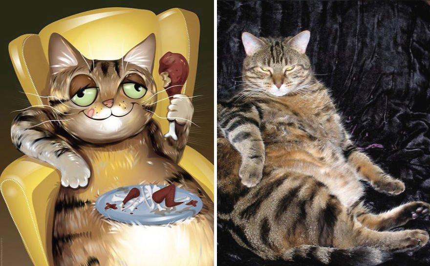 Usando a personalidade de animais de estimacao para criar caricaturas (6)