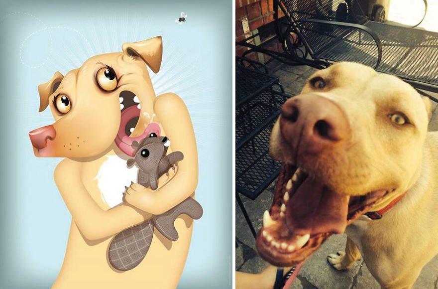 Usando a personalidade de animais de estimacao para criar caricaturas (7)