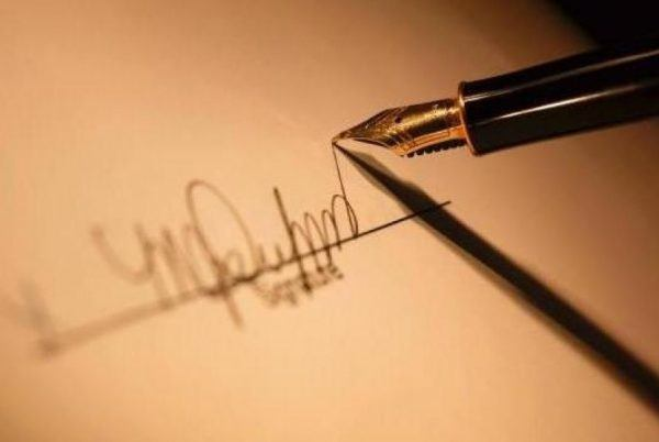 assinatura grafologia