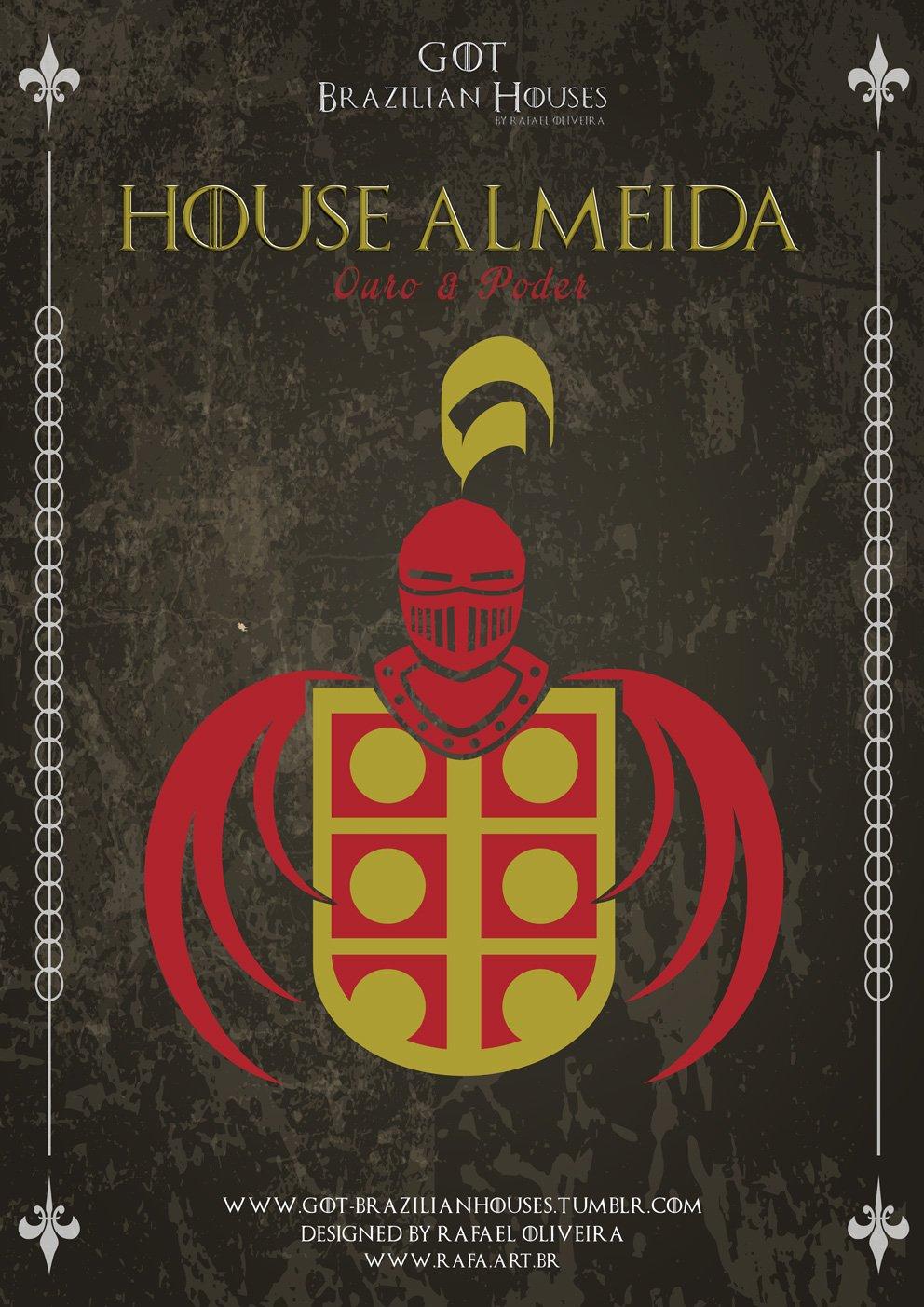 Como seriam as casas de Game of Thrones se elas tivessem sobrenomes Brasileiros (2)