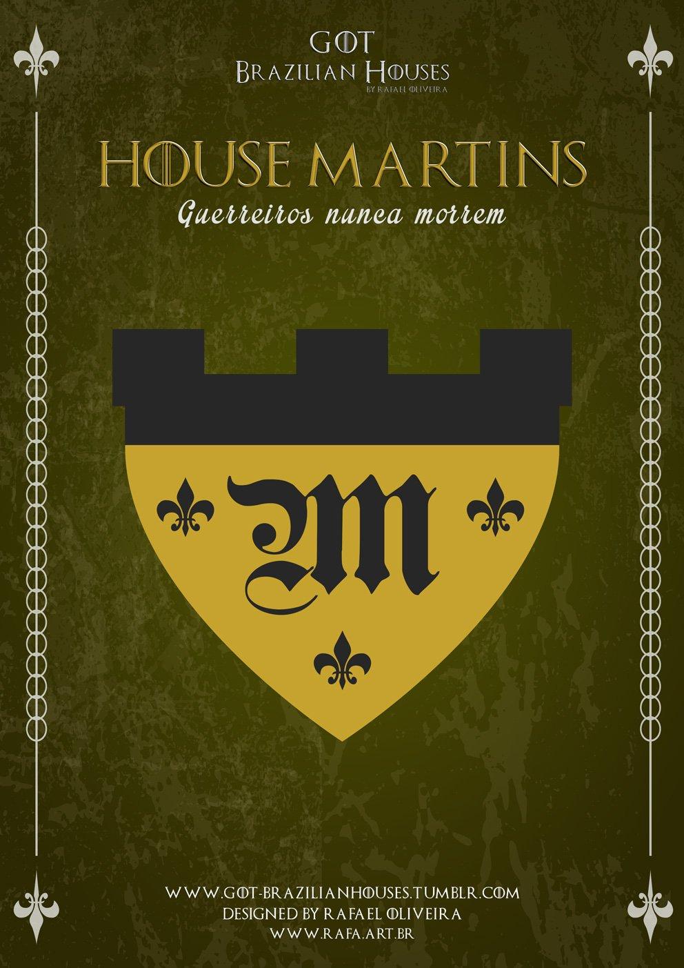 Como seriam as casas de Game of Thrones se elas tivessem sobrenomes Brasileiros (3)