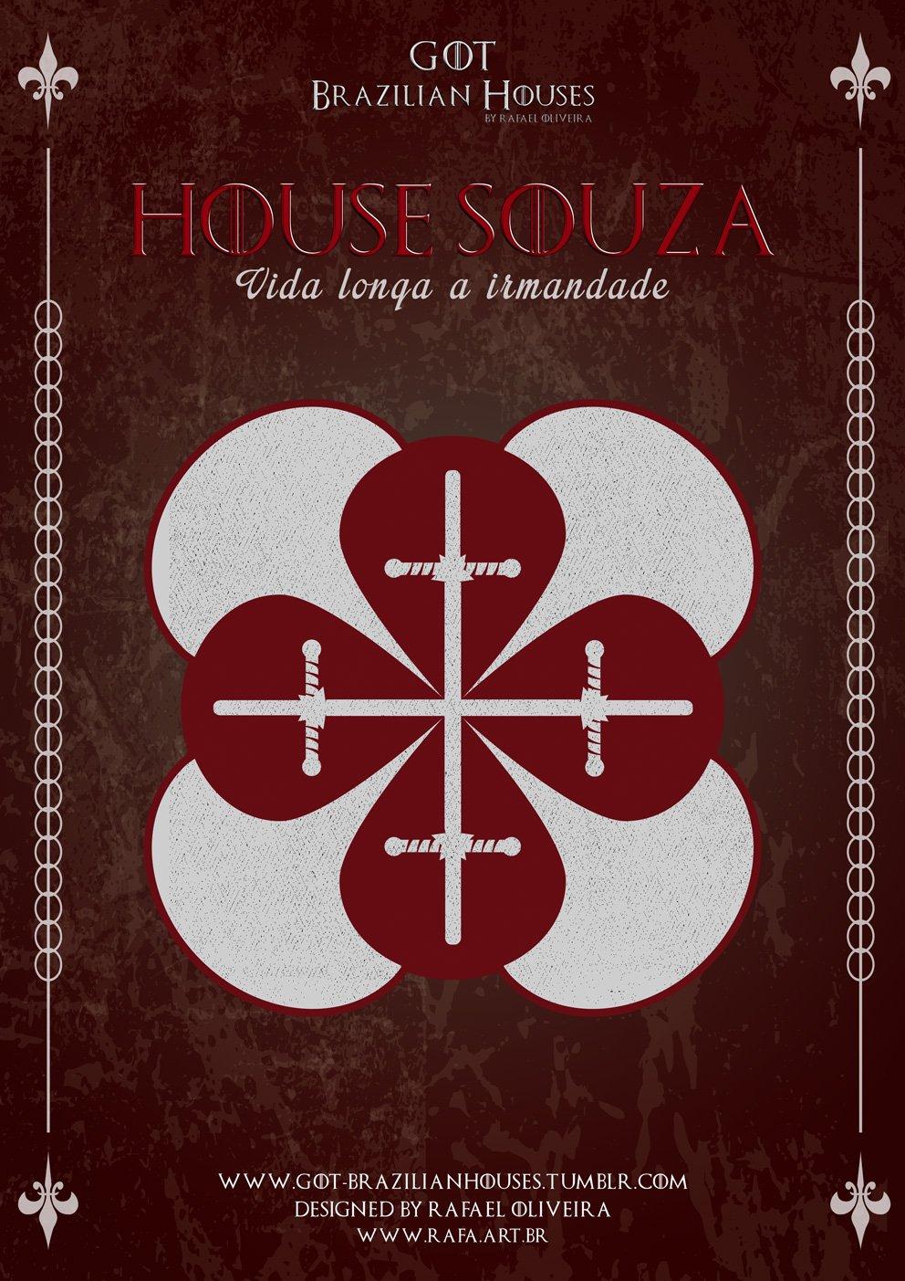 Como seriam as casas de Game of Thrones se elas tivessem sobrenomes Brasileiros (4)