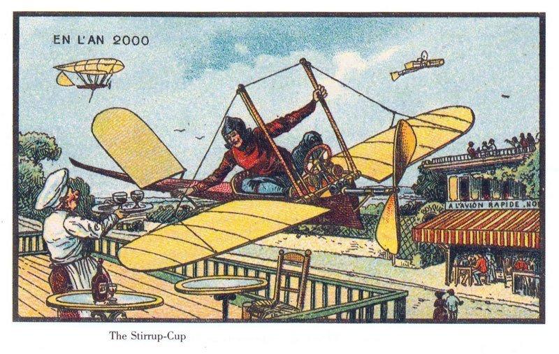 100 anos atrás, artistas foram convidados para ilustrar como seria os anos 2000
