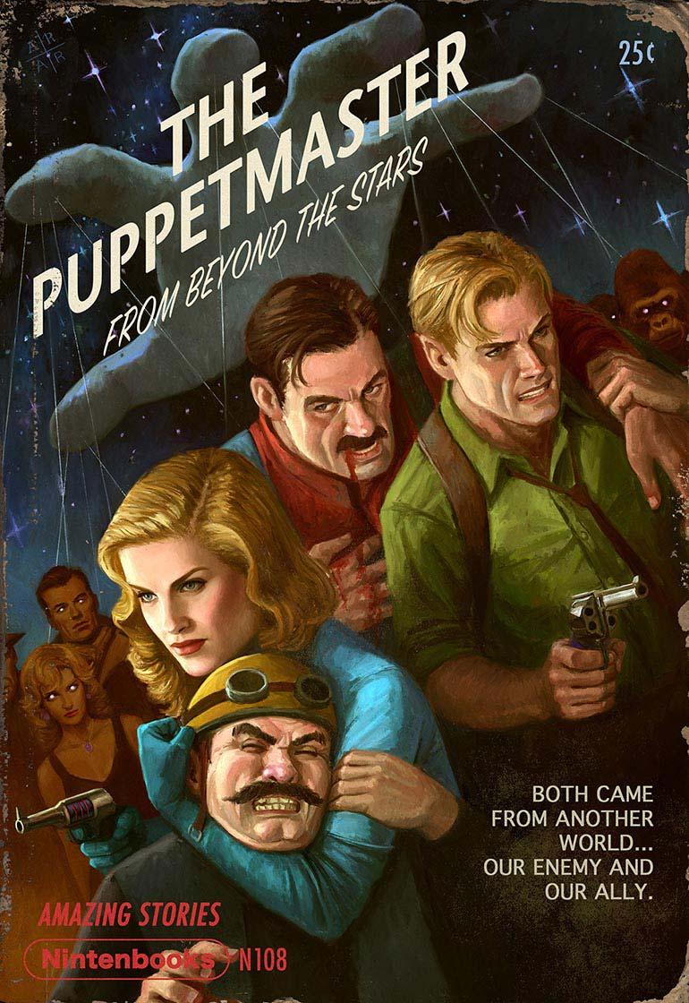 artista-transforma-jogos-da-nintendo-em-capas-de-revista-pulp-fiction-4