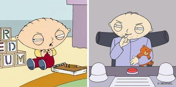Como seriam os personagens de desenhos animados se fossem mais velhos (1)