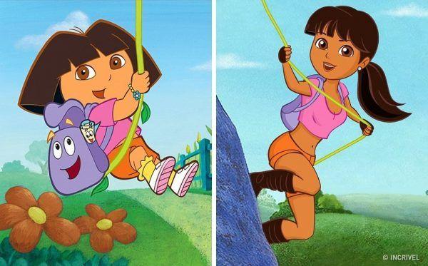 Como seriam os personagens de desenhos animados se fossem mais velhos (11)