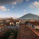 o dia da erupcao do vulcao Vesuvio em Pompeia 5