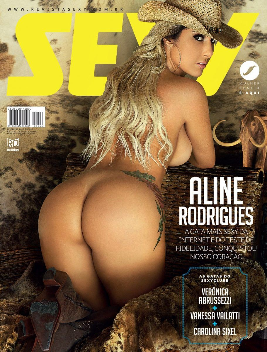 Fotos da revista Sexy Aline Rodrigues de Fevereiro