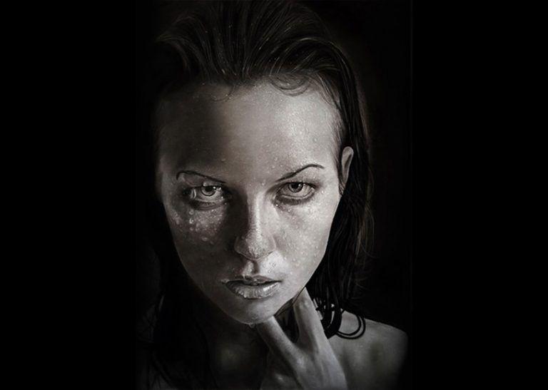 Artista cria retratos hiper realistas usado apenas grafite e carvao 6
