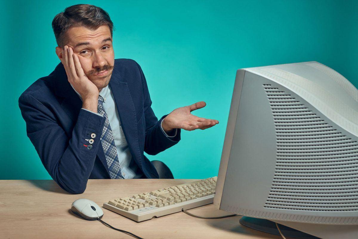 desapontado computador