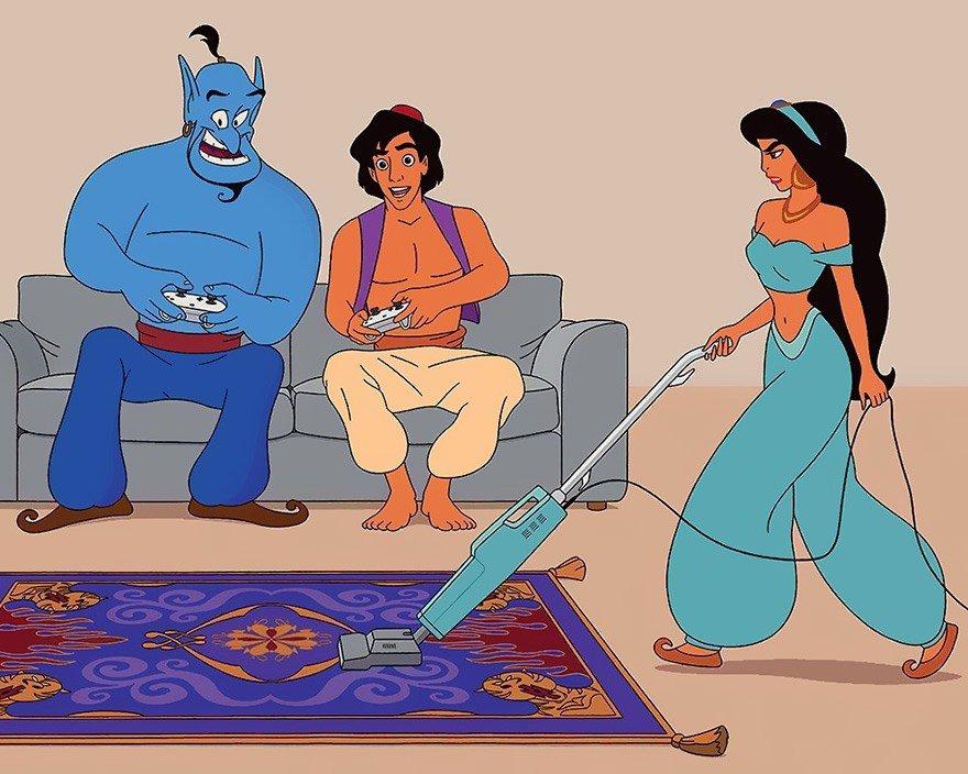 Ilustrador imagina como seriam os filmes da Disney se eles fossem criados nos dias de hoje