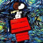 Incorporando personagens da cultura pop em pinturas de Van Gogh 3