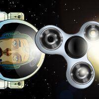 Brincando com um fidget spinner no espaço