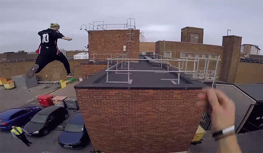 Parkour e a fuga no telhado