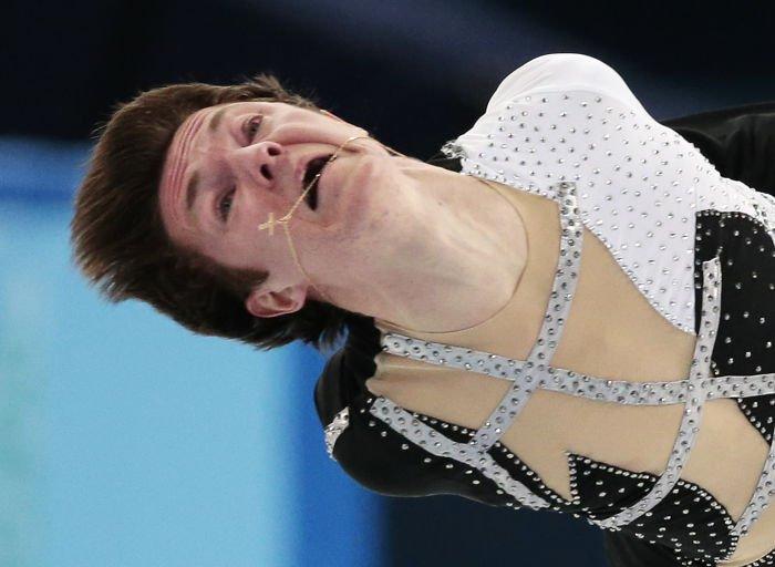 As terríveis faces dos patinadores de gelo