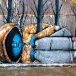 Pinturas de rua que interagem com o ambiente 6