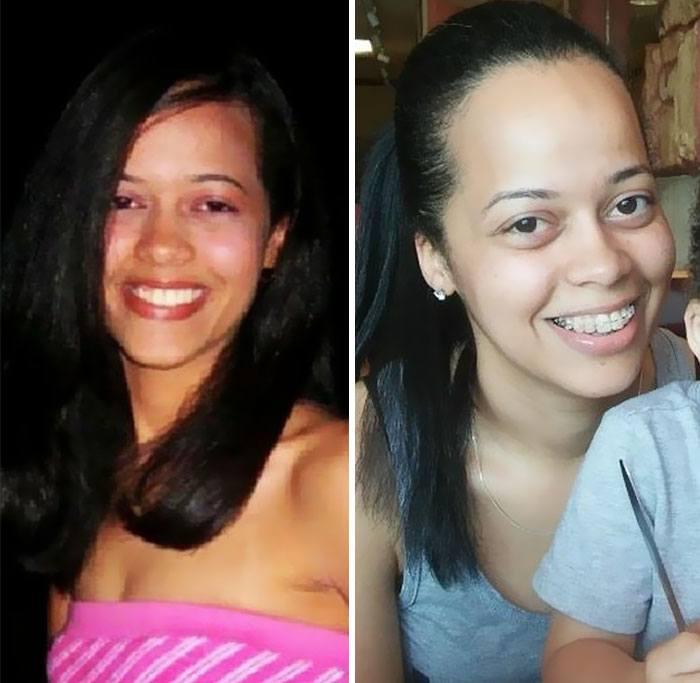 Pais mostram fotos de antes e depois de terem filhos 11