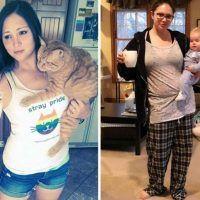 Pais mostram fotos de antes e depois de terem filhos