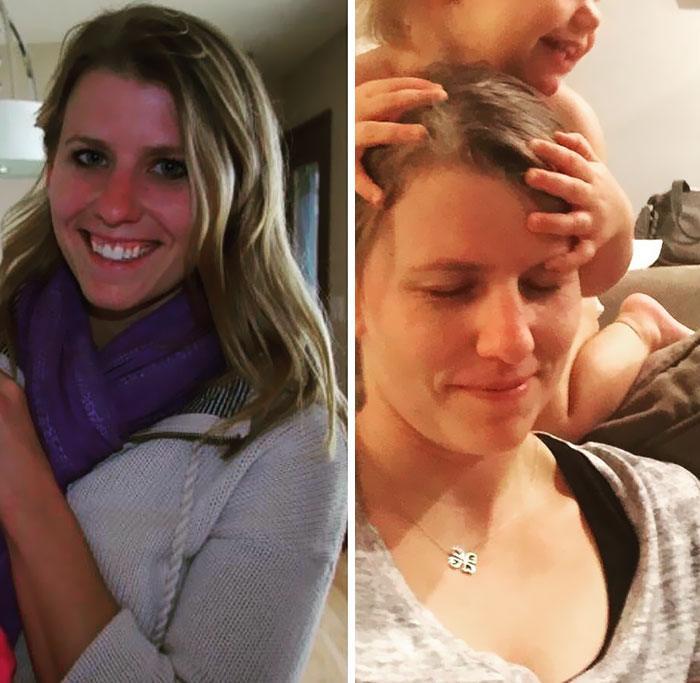 Pais mostram fotos de antes e depois de terem filhos 4
