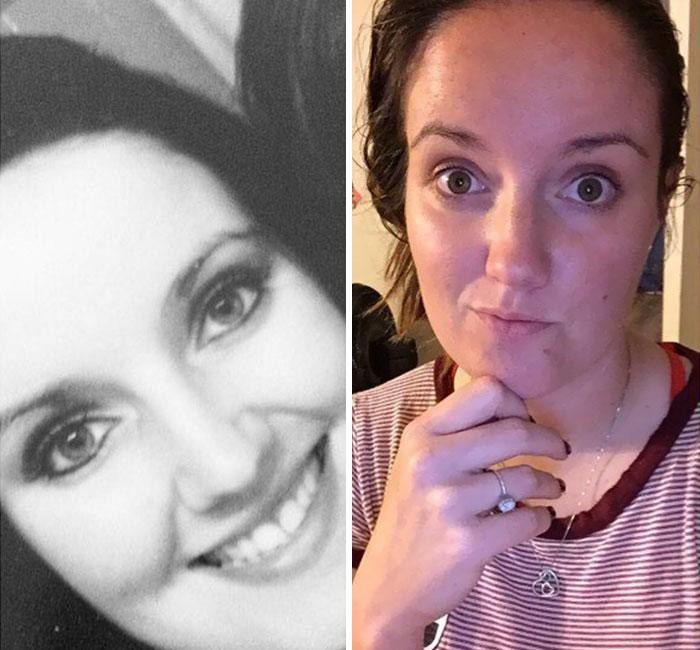 Pais mostram fotos de antes e depois de terem filhos 7