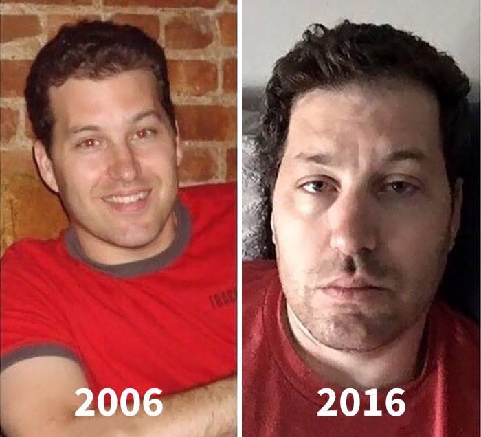 Pais mostram fotos de antes e depois de terem filhos 8