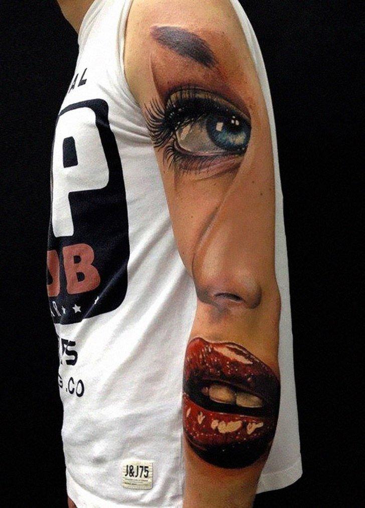 Tatuagens realistas e em 3D fodasticas 14