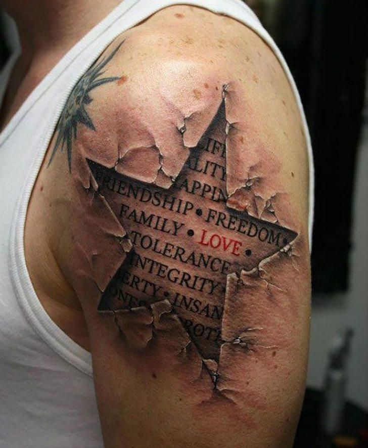 Tatuagens realistas e em 3D fodasticas 21