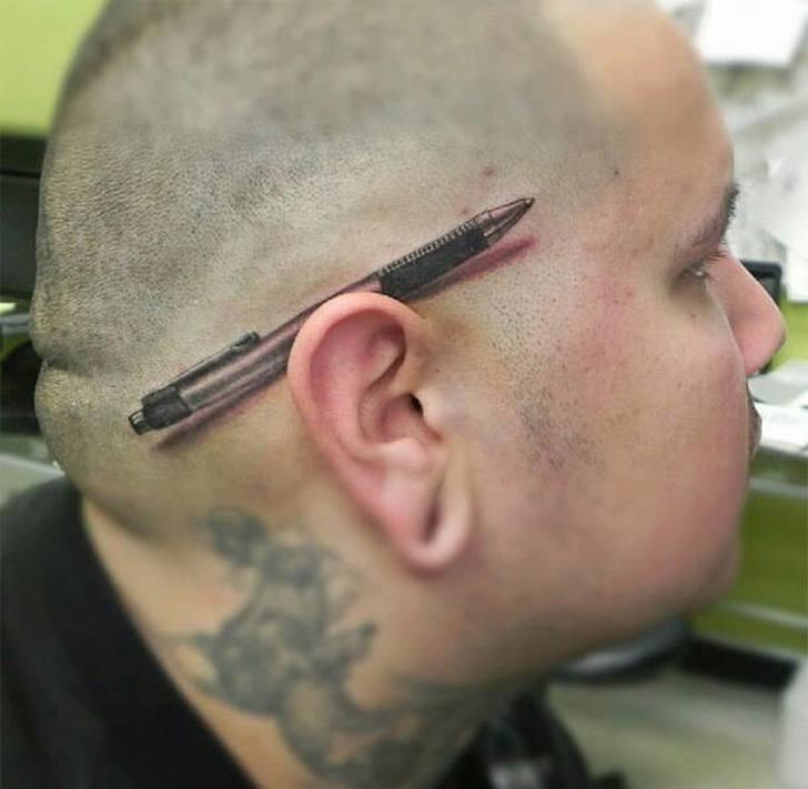 Tatuagens realistas e em 3D fodasticas 26