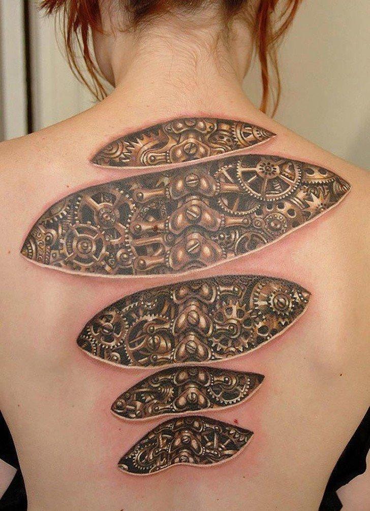 Tatuagens realistas e em 3D fodasticas 5