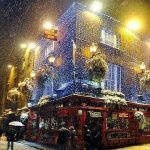 dublin temple bar snow