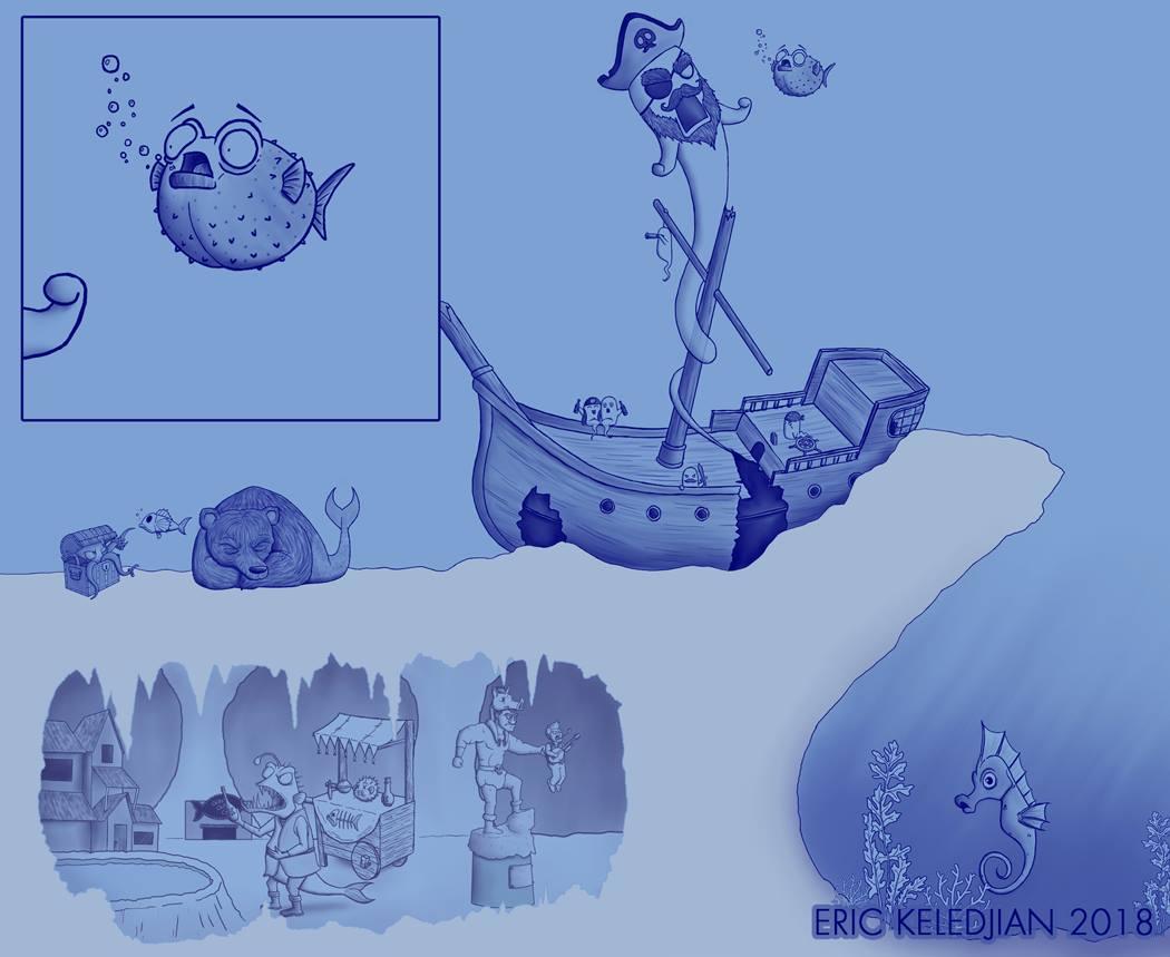 Artista passa um mes acrescentando um personagem por dia em seu desenho 11