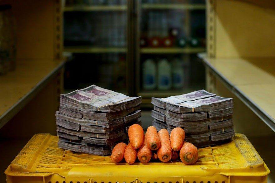A quantia de dinheiro que voce precisa para comprar itens basicos na Venezuela 8