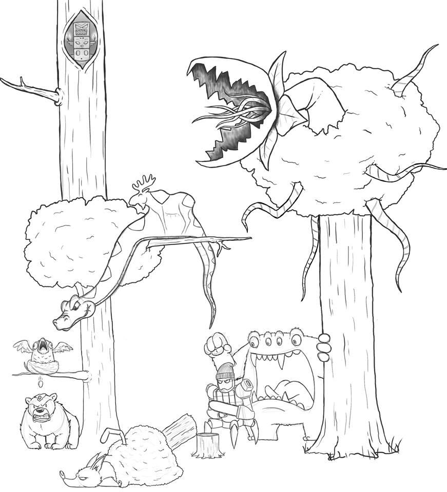 Artista passa um mes acrescentando um personagem por dia em seu desenho 10
