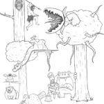 Artista passa um mes acrescentando um personagem por dia em seu desenho 12