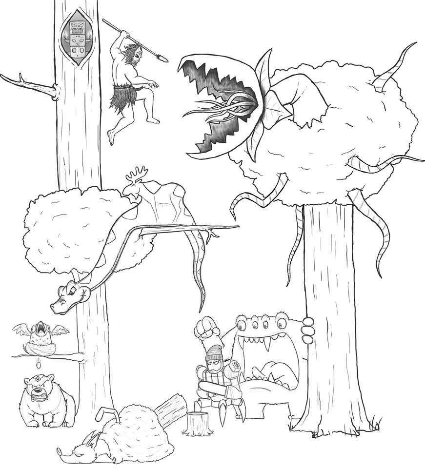 Artista passa um mês acrescentando um personagem por dia em seu desenho [2]