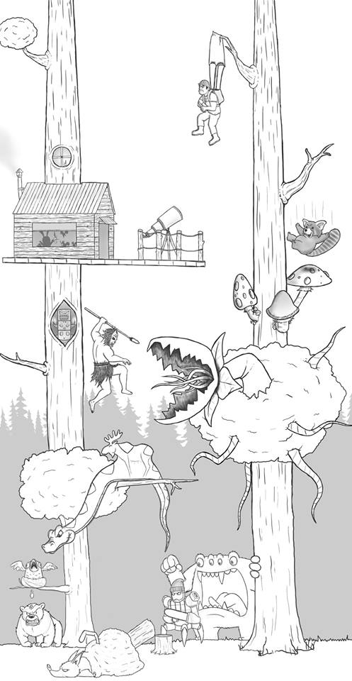Artista passa um mes acrescentando um personagem por dia em seu desenho 15