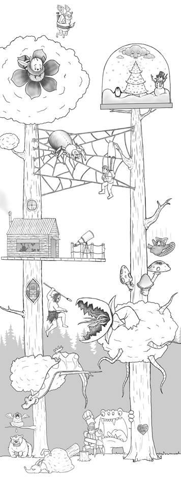 Artista passa um mes acrescentando um personagem por dia em seu desenho 20