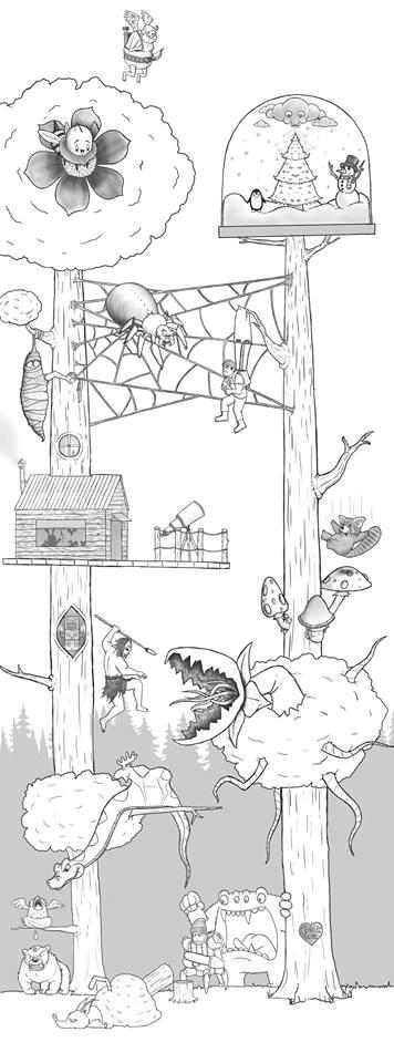 Artista passa um mes acrescentando um personagem por dia em seu desenho 21
