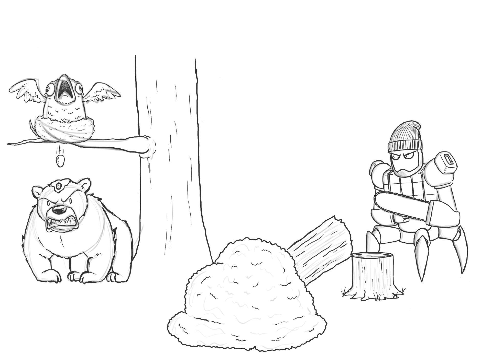 Artista passa um mes acrescentando um personagem por dia em seu desenho 4