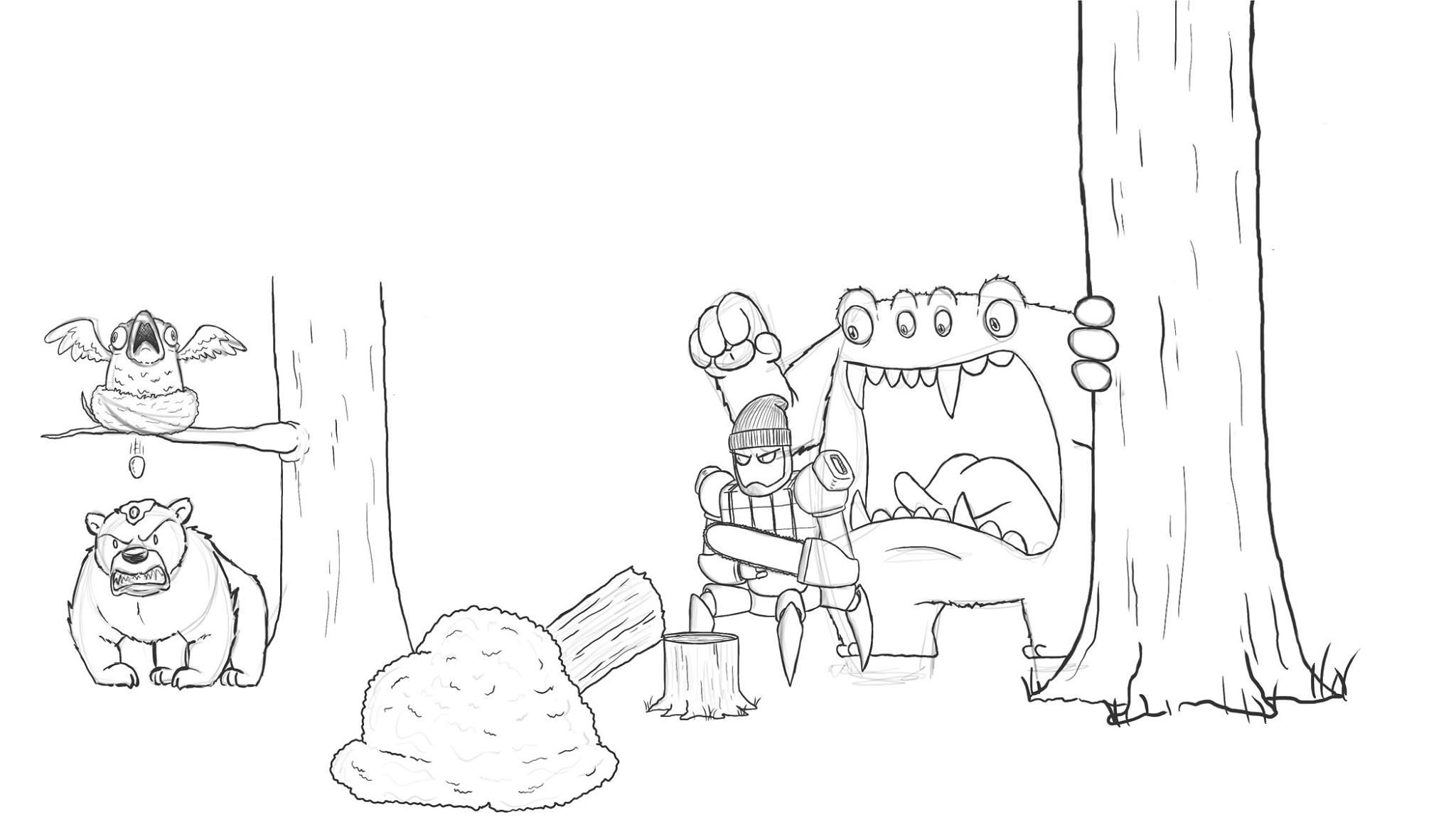 Artista passa um mes acrescentando um personagem por dia em seu desenho 5