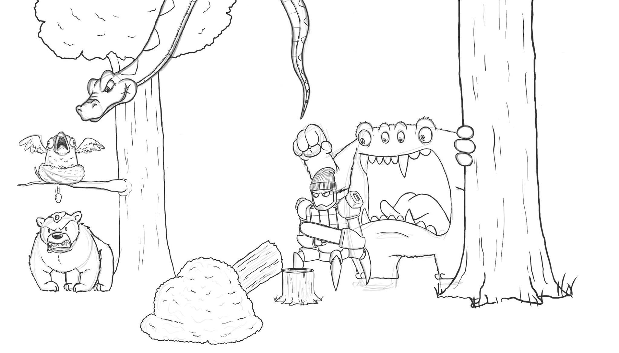 Artista passa um mes acrescentando um personagem por dia em seu desenho 6