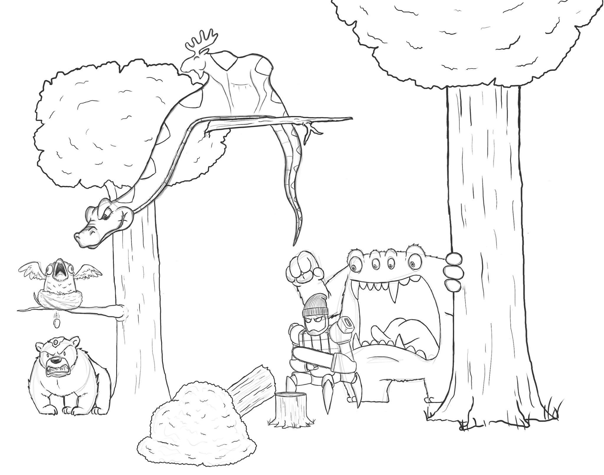 Artista passa um mes acrescentando um personagem por dia em seu desenho 7