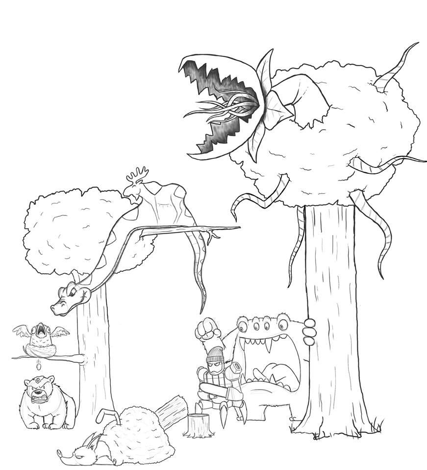 Artista passa um mes acrescentando um personagem por dia em seu desenho 8