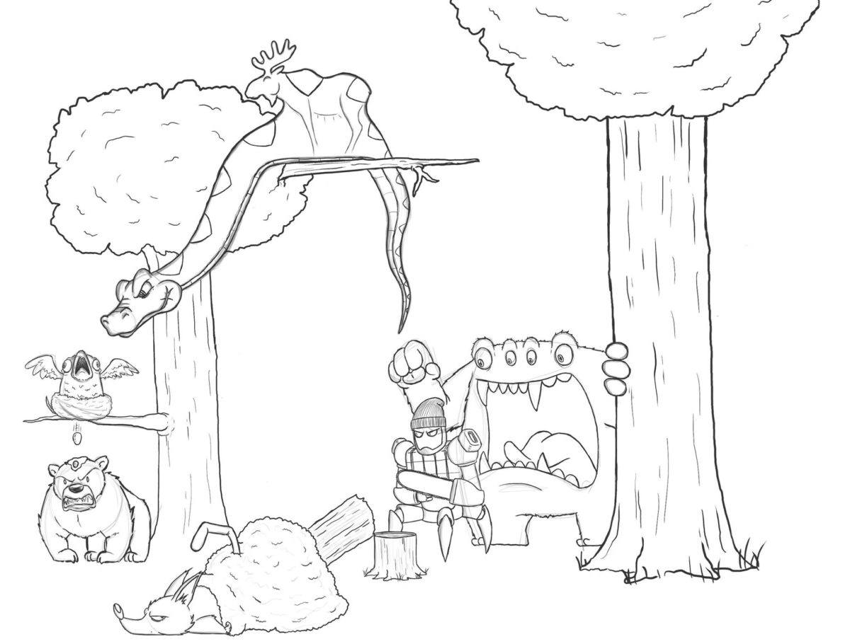 Artista passa um mes acrescentando um personagem por dia em seu desenho 9