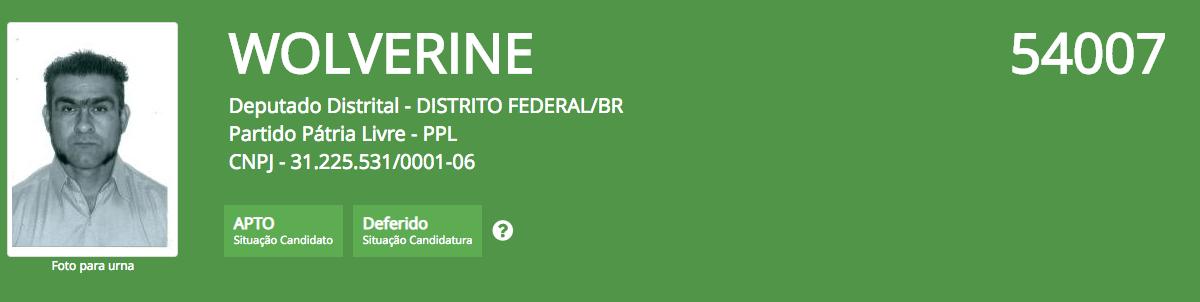 Os candidatos mais bizarros nas eleicoes 2018 Regiao CENTRO OESTE 18