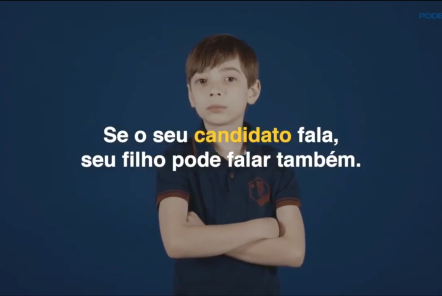 Criancas repetem falas de Jair Bolsonaro candidato a Presidencia no Brasil 2