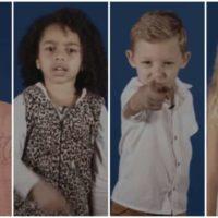 Crianças repetem as palavras de Jair Bolsonaro