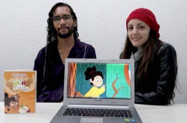 Paulo Henrique dos Santos criador do desenho Min e as mãozinhas (libras).