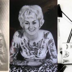 Imagens da tatuadora Cindy Ray, uma das primeiras da história